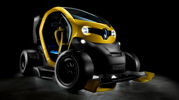 Twizy Renault Sport F1 stat vorne rechts
