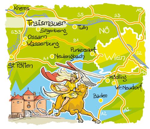 Karte Nibelungenhof, Traismauer