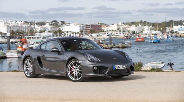 Porsche Cayman statisch vorne rechts