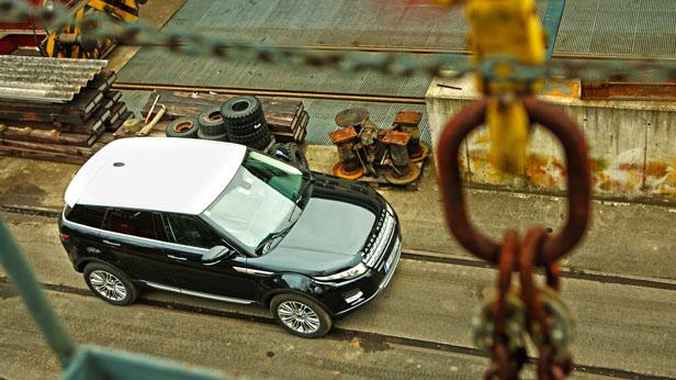 Range Rover Evoque Dauertest statisch oben