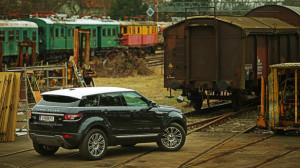 Range Rover Evoque Dauertest statisch hinten rechts