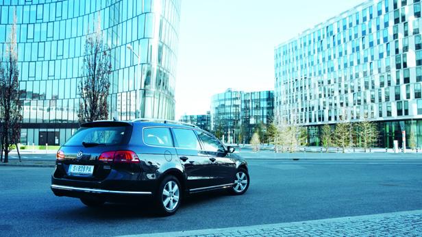VW Passat Dauertest – statisch hinten rechts