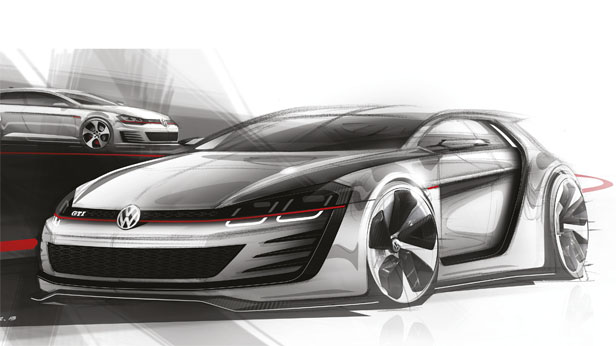VW Design Vision GTI, Designskizze vorne links