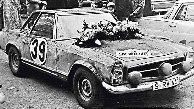 Ein historischer Leckerbissen zum 50er-Jubiläum: Böhringers Lüttich-Sofia-Lüttich-Pagode, später von Phil durchs Ennstal getrieben.