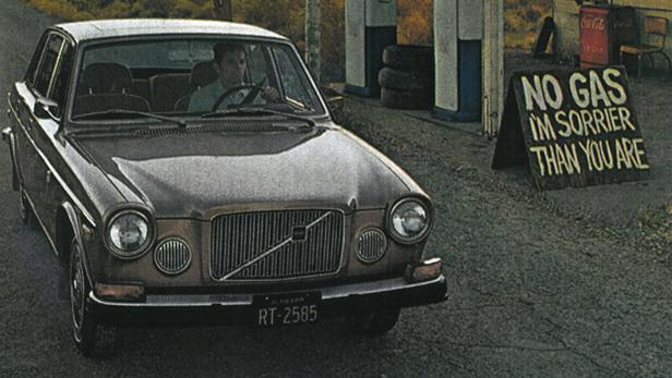 Werbung aus dem Jahr 1974 für den Volvo 164.