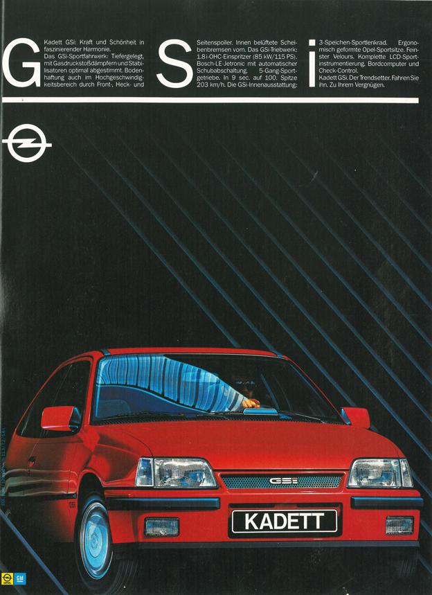 1986 - Opel Kadett GSI Werbung