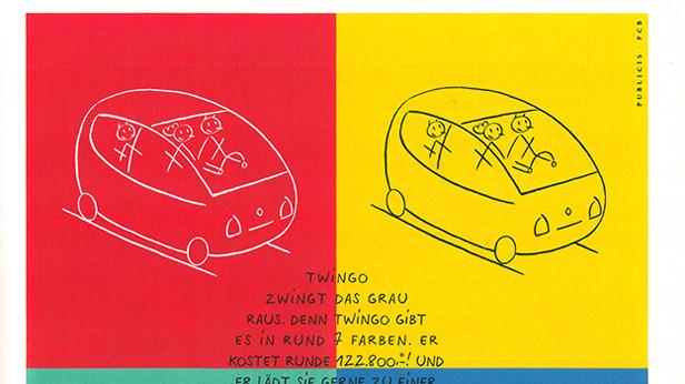 Renault Twingo Werbung aus dem Jahr 1993.