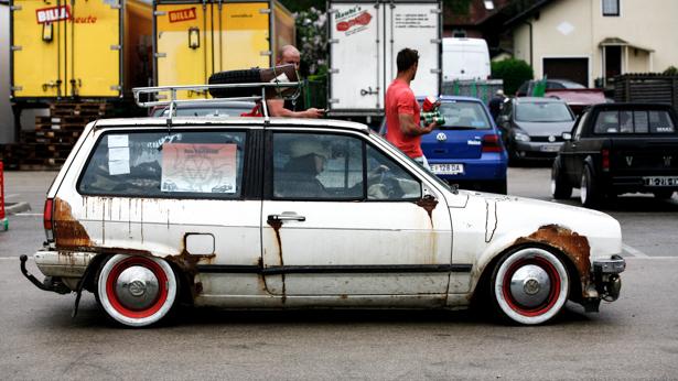 GTI Treffen 2013: verrosteter VW