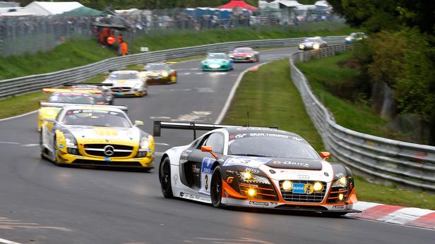 Frank Biela / Christer Joens / Luca Ludwig / Roman Rusinov (G-Drive Racing by Phoenix, Audi R8 LMS ultra, Startnummer 3)
