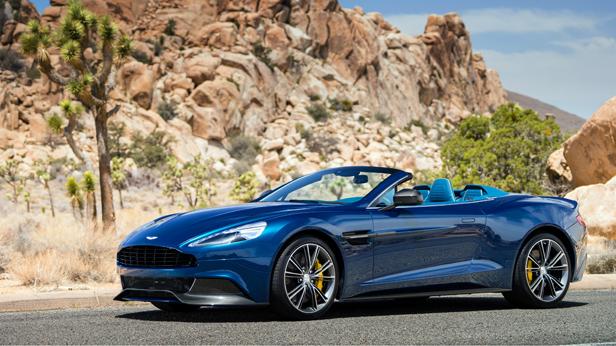 Aston Martin Vanquish Volante statisch vorne links