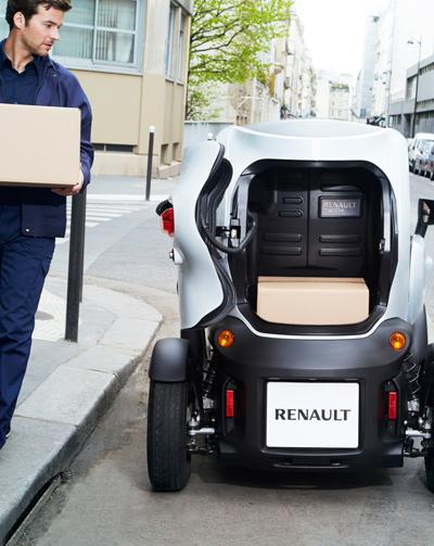 Renault Twizy Cargo statisch hinten
