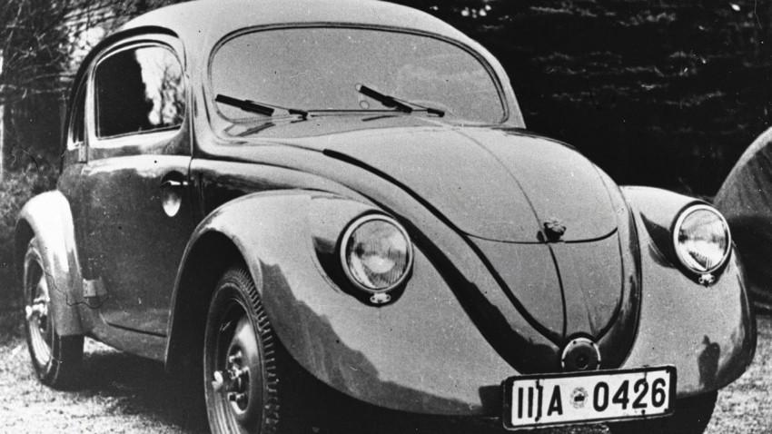 1938 musste der Käfer das Wolfsburger Werk mit Kriegsmaterial teilen.