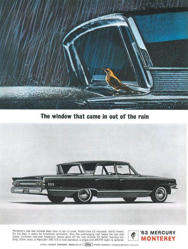 Klassische Autowerbung Mercury Monterey 1963