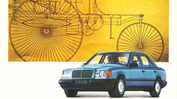 Mercedes W124 Mercedes-Benz klassische Autowerbung