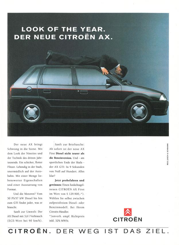 1991 - Citroën AX Klassische Autowerbung