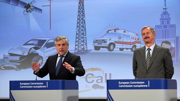 EU-Kommissare Antonio Tajani und Siim Kallas