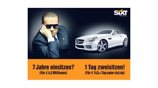"""Sixt - Werbung: """"Being Berlusconi for a Day"""""""