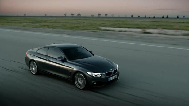 BMW 4er Coupé Video dynamisch vorne rechts
