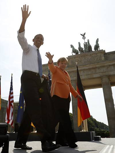 USA EU Freihandelszone Crashtest NCAP Barack Obama Angela Merkel