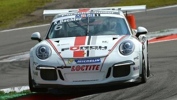 Rookie Klaus Bachler kämpft sich im Porsche Supercup in die Top 5