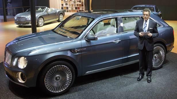 Der Bentley SUV bei der China Auto Show 2012