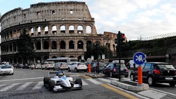 Formel-E-Testfahrer Lucas Di Grassi in Rom
