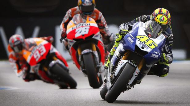 Valentino Rossi beim GP-Niederlanden in Assen