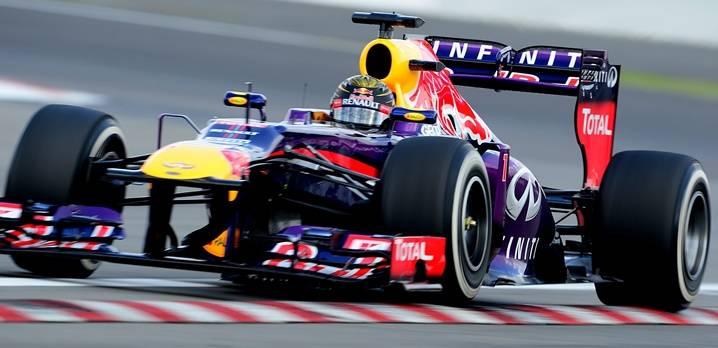 Sebastian Vettel gab in der dritten Trainingsrunde wieder ordentlich Gas.