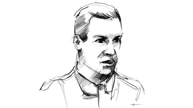 Zeichnung - Profil - von Jean-Pierre Wimille