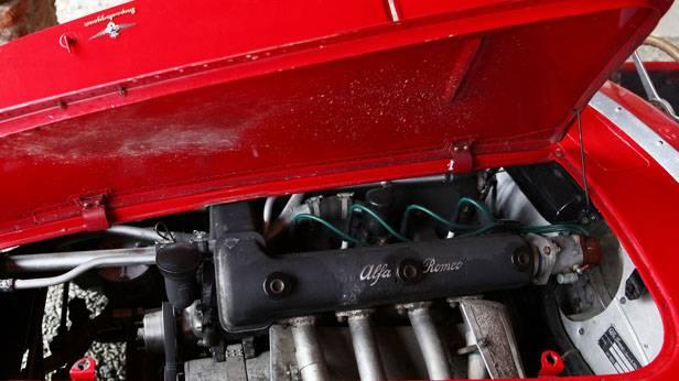 Alfa Romeo C52 motorraum