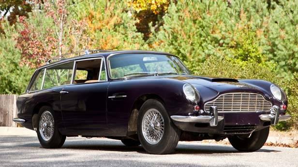 Aston Martin DB6 schwarz seitlich