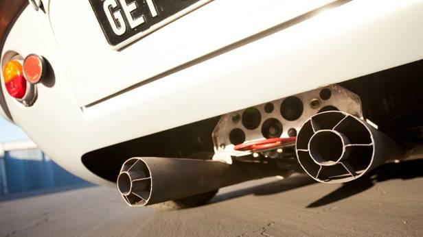Auspuff des Lister-Jaguar BHL 16