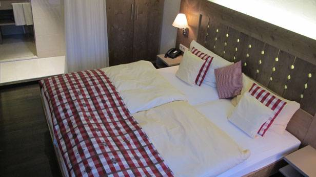 Bett im Hotel Alemannenhof