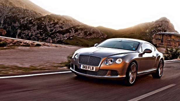 Bentley Continental GT dynamisch vorne links