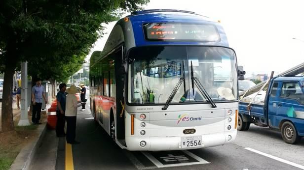 KAIST OLEV-Bus in Gumi City (Südkorea)