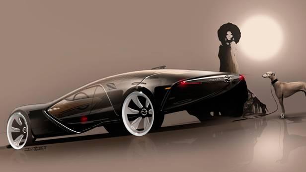 Opel Monza Concept 2013 Skizze
