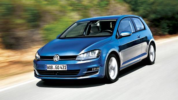 VW Golf dynamisch vorne links