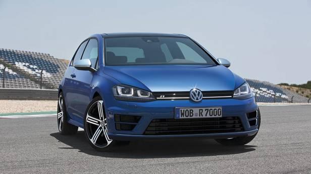 VW Golf R statisch vorne