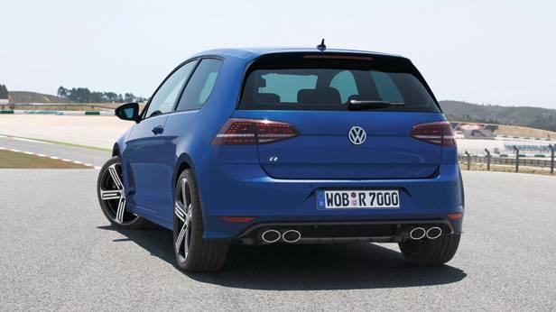 VW Golf R statisch hinten