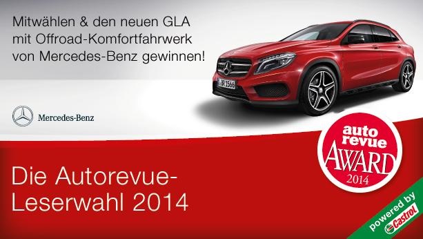 Welches ist das beste Auto seiner Klasse? Wählen Sie Ihre Favoriten aus 7 Kategorien und gewinnen Sie mit etwas Glück den neuen GLA 200 CDI 4MATIC  mit Offroad-Komfortfahrwerk von Mercedes-Benz.