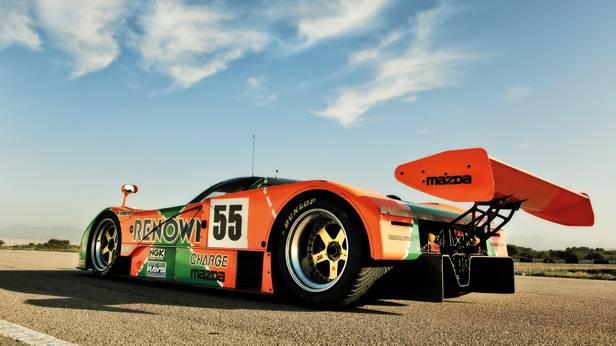 Le Mans Mazda 787 B seite hinten