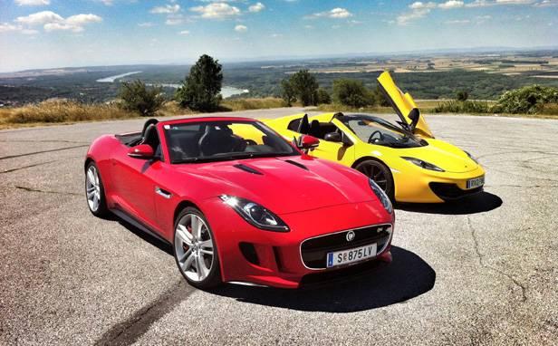 Die Redaktionslieblinge: Jaguar F-Type V8S und McLaren MP4-12C Spider