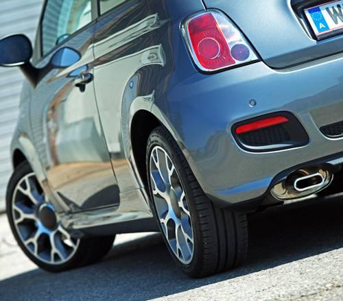 FIAT 500 S 1,3 MJet 95 auspuff felge