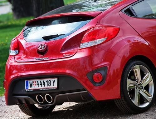 Hyundai Veloster 1,6 GDI Turbo heck