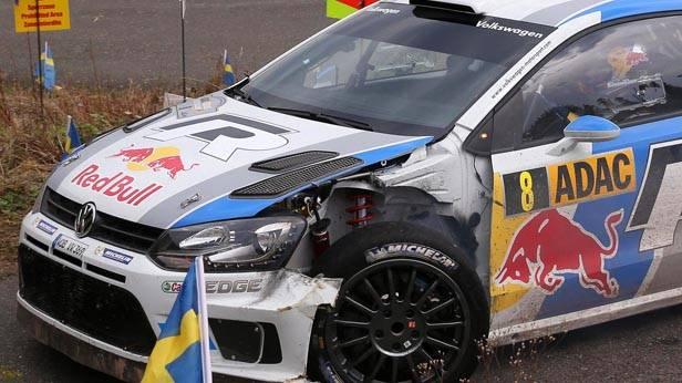 Sebastien Ogiers beschädigter VW