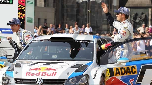 Sebastien Ogier nach dem ersten Tag der Deutschland Rallye