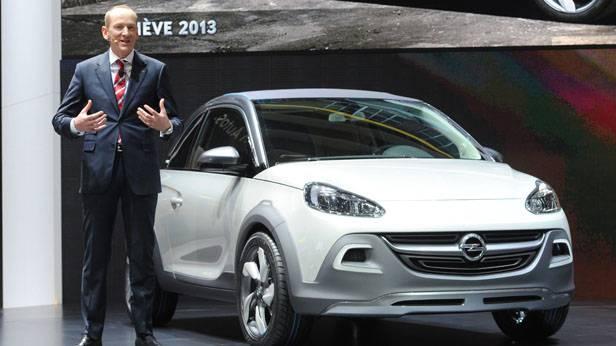 Opel-Chef Karl-Thomas Neumann bei der Präsentation des Opel Adam