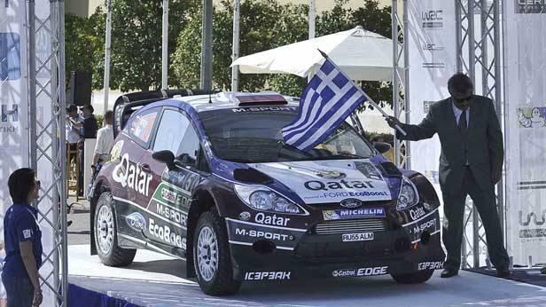 Nowikow/Minor am Start bei der Griechenland-Rallye