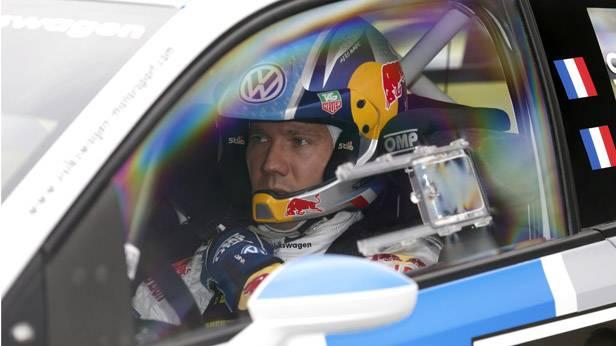 Sebastien Ogier bei der Rallye in Finnland, im Volkswagen Polo R WRC