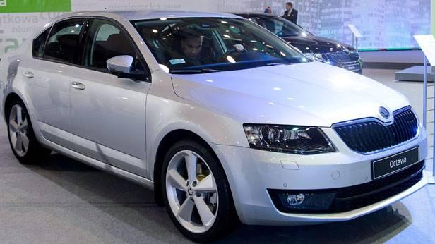 Der Skoda Octavia auf einer Auto-Show in Polen.